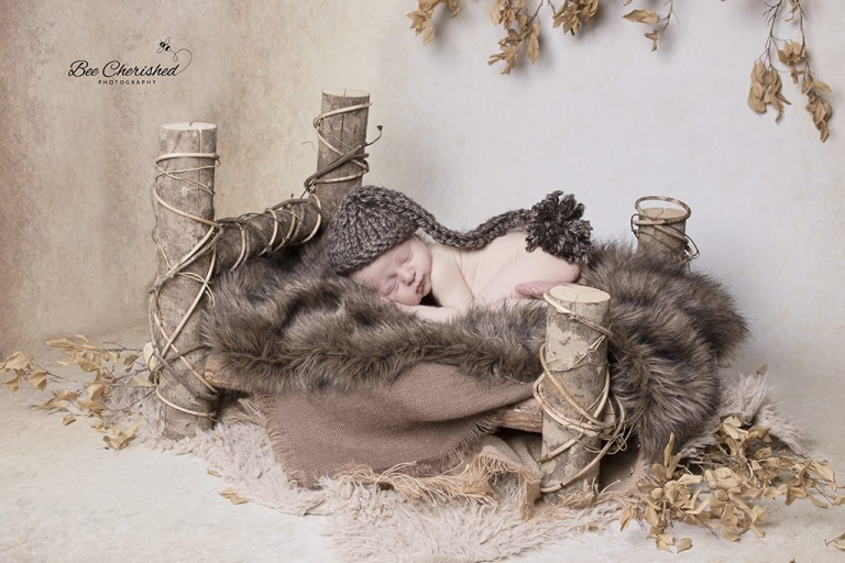 log bed newborn photography props