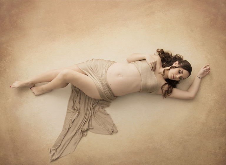 Best maternity photos Brisbane aerial photo