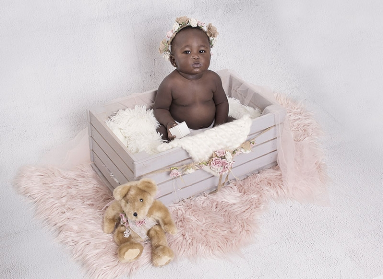 pretty african baby 8 months old
