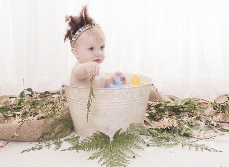 baby milk baths for boys brisbane photographer 1st birthday photos